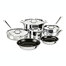image of allclad stainless steel nonstick 10piece cookware set