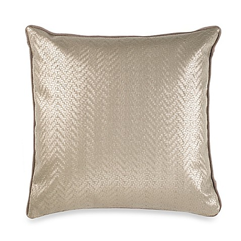 Vetty Square Throw Pillow in Taupe - Bed Bath & Beyond