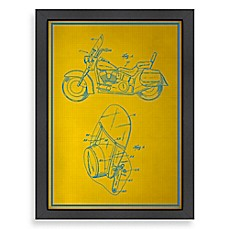 image of Americanflat Motorcycle Blueprint Wall Art