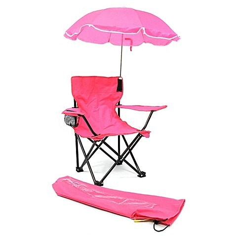 Redmon Kidsu0026#39; C& Chair with Umbrella ...  sc 1 st  Bed Bath u0026 Beyond & Redmon Kidsu0027 Camp Chair with Umbrella in Pink - Bed Bath u0026 Beyond