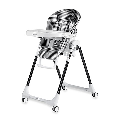 Peg perego prima pappa zero 3 high chair in gingham black - Chaise prima pappa peg perego ...