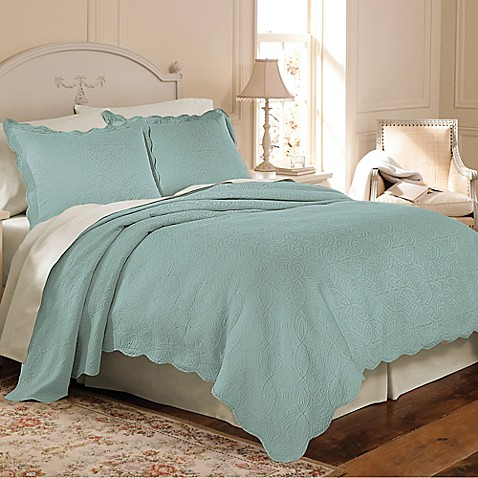 Matelasse Coventry Coverlet Set In Aqua Bed Bath Amp Beyond