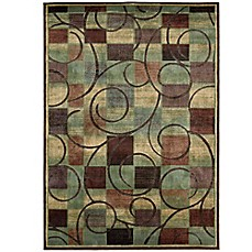 image of Nourison Expressions Geometric Area Rug in Brown