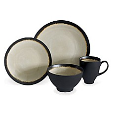 image of Baum Galaxy Coupe 16-Piece Dinnerware Set in Sand