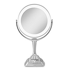 image of Zadro™ Next Generation LED Variable Light Vanity Mirror 1X/10X in Satin Nickel