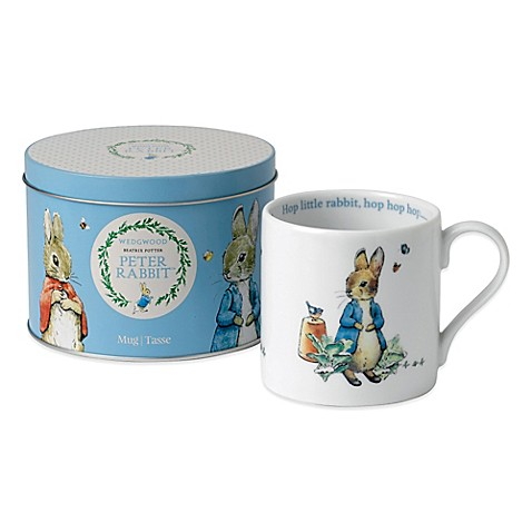 Wedgwood® Peter Rabbit Mug in a Blue Tin