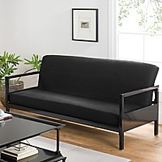 image of Loft NY Cotton Rich Futon Cover in Black