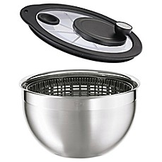 image of Rosle Salad Spinner with Glass Lid