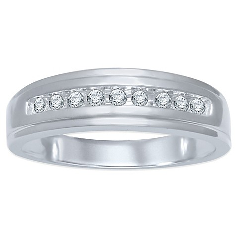 buy 10k white gold 20 cttw channel set size 9
