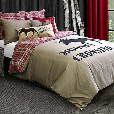 Lamington Reversible Duvet Cover In Taupe Bed Bath Amp Beyond