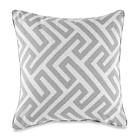 Keyes Decorative Pillow : Buy MYOP Keyes Square Throw Pillow Cover in Grey from Bed Bath & Beyond