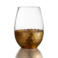 image of Fitz and Floyd® Daphne Stemless Wine Glasses in Gold (Set of 4)