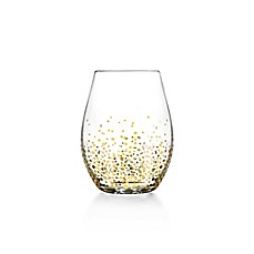 image of Fitz and Floyd® Luster Stemless Wine Glasses in Gold (Set of 4)