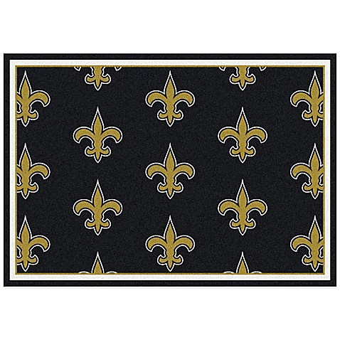 buy nfl new orleans saints repeating large area rug from bed bath beyond