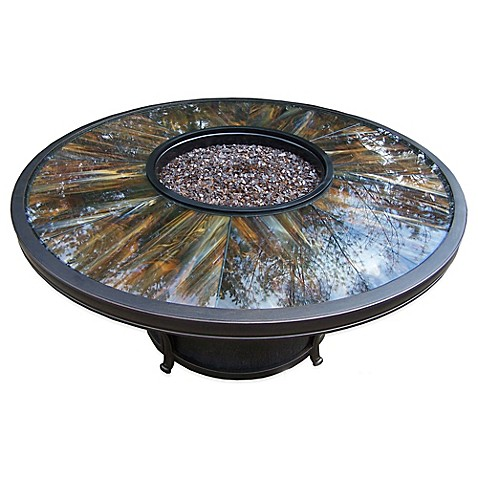 Oakland Living Sunray 48-Inch Fire Pit Table - Oakland Living Sunray 48-Inch Fire Pit Table - Bed Bath & Beyond