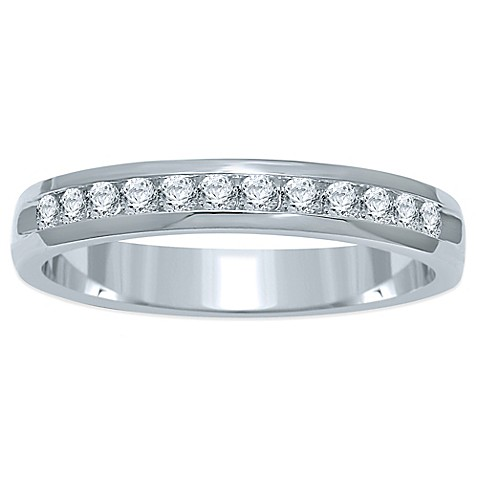buy 14k white gold 25 cttw channel set size 7