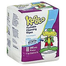 image of Pampers® Kandoo® 200-Count Sensitive Skin Flushable Wipes Refill