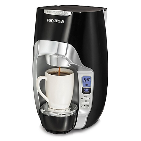 single cup coffee makers hamilton 174 flexbrew 174 programmable single serve coffee 12254
