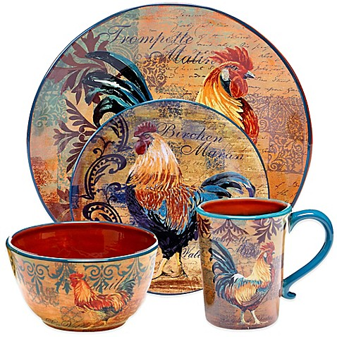 Certified International Rustic Rooster Dinnerware Collection - Bed ...