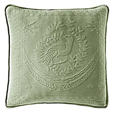 image of Historic Charleston Collection Matelassé 20-Inch Square Throw Pillow in Sage