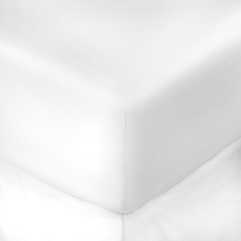 buy 250 thread count 39 inch x 75 inch with 10 inch deep pocket twin fitted sheet in white from. Black Bedroom Furniture Sets. Home Design Ideas