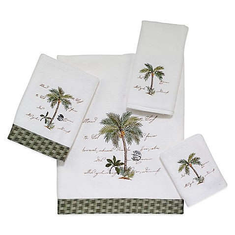 Avanti palm garden bath towel collection in white bed - Bed bath and beyond palm beach gardens ...