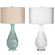image of Pacific Coast Lighting Pacific Fan Table Lamp with Linen Shade