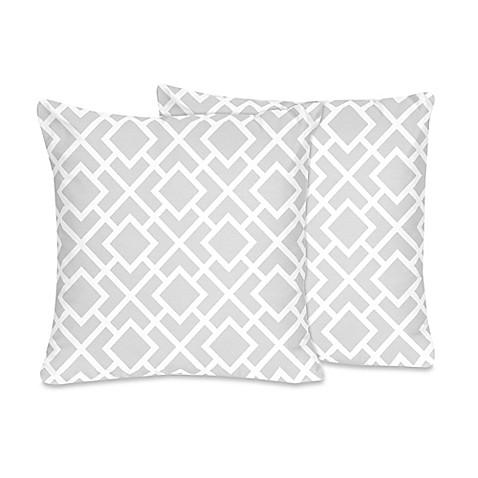 Sweet Jojo Designs Diamond Crib Bedding Collection > Sweet Jojo Designs Diamond Throw Pillow in ...
