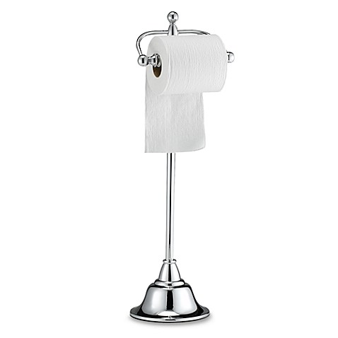 Deluxe Pedestal Chrome Toilet Paper Stand - Bed Bath & Beyond