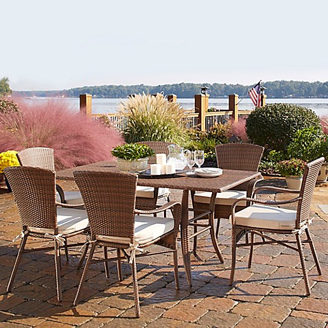 Panama Jack Key Biscayne 7 Piece Outdoor Dining Set With