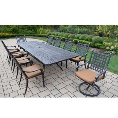 Oakland Living Richmont 11 Piece Extendable Outdoor Dining Set in