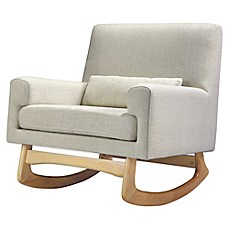 image of nursery works sleepytime rocker in oatmeal with light legs
