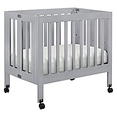 image of Babyletto Origami Mini Crib in Grey