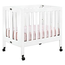 image of Babyletto Origami Mini Crib in White