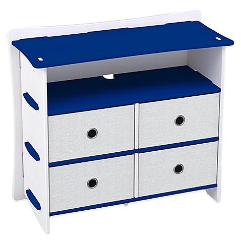 Legare blue racer 5 shelf tool free dresser in blue bed for Online furniture design tool