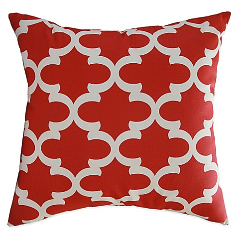 Red Throw Pillow For Bed : Buy Eli Square Throw Pillow in Red (Set of 2) from Bed Bath & Beyond