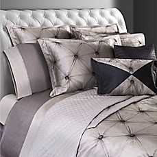image of Villa Di Borghese Chesterfield Italian-Made Jacquard Duvet Cover in Grey
