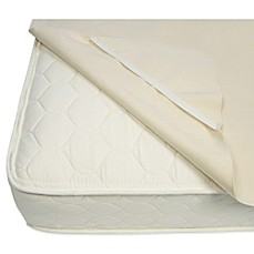 image of naturepedic organic cotton waterproof protector pad with straps
