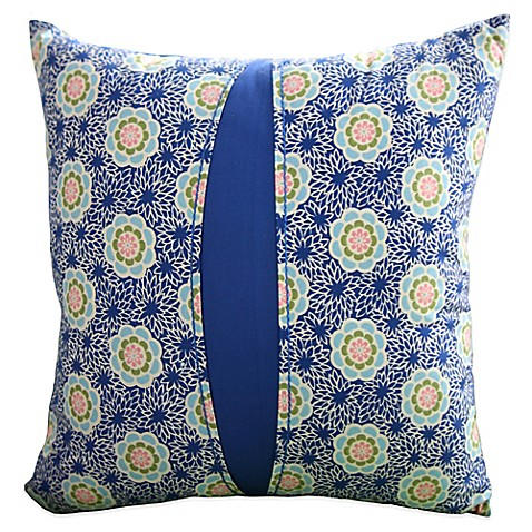 Amy Butler by Welspun Kyoto Square Throw Pillow in Blue - Bed Bath & Beyond