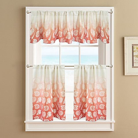 Buy Seascape Lined 36 Inch Window Curtain Tier Pair From Bed Bath Beyond