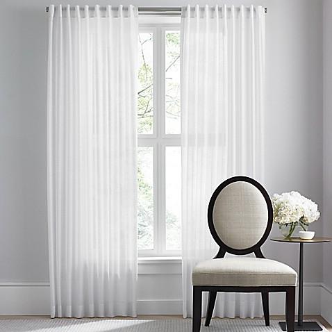 Barbara Barry Dotted Sheer Rod Pocket Back Tab Window Curtain Panel Bed Bath Beyond