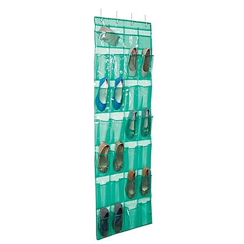 Closetware over the door 24 pocket shoe organizer bed for 12 pocket over the door shoe organizer