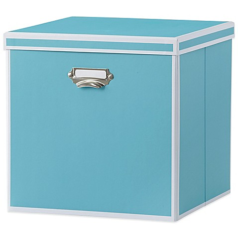 Real Simple 174 Foldable Storage Box Bin With Lid Turquoise
