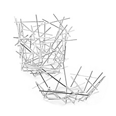 image of Alessi Stainless Steel Blow Up Baskets