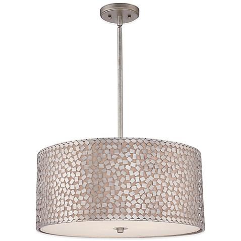 Quoizel Confetti Pendant Light Fixture In Old Silver