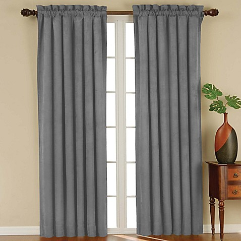 solarshield siena rod pocket room darkening window curtain panel bed bath beyond. Black Bedroom Furniture Sets. Home Design Ideas