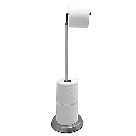 Umbra® Toilet Paper Stand with Silicone Head in Brushed Nickel - Bed ...