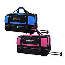 image of Travelers Club® 30-Inch Drop-Bottom Rolling Duffel