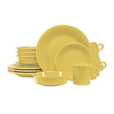 Fiesta\u0026reg; 16-Piece Dinnerware Set in Sunflower  sc 1 st  Bed Bath \u0026 Beyond & Fiesta® 16-Piece Dinnerware Set in Sunflower - Bed Bath \u0026 Beyond