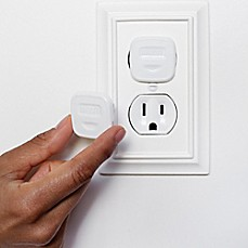 Childproofing cabinet locks nightlights outlet covers more image of rhoost outlet cover in white 12 pack sciox Choice Image